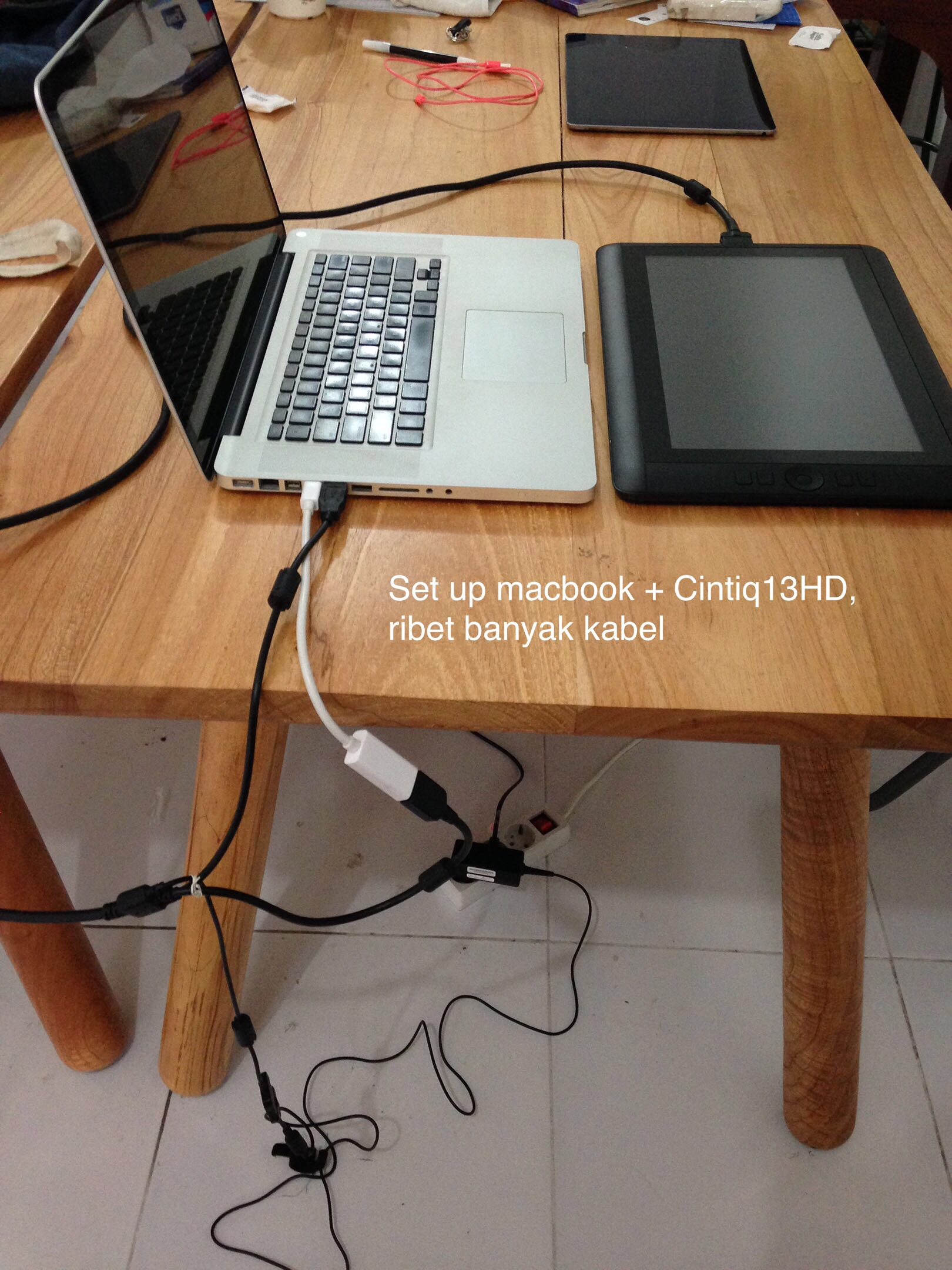 set up cintiq di Macbook Pro